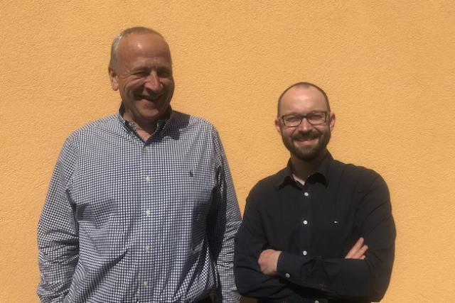 Alain Dujardin, Country Manager, et Sébastien Bos, Sales & Business Development Manager d'UnifiedPost Luxembourg Crédit Photo: Microtis