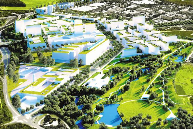 Le futur parc du Ban de Gasperich, ici en bas, s'étalera sur près de 20 hectares et sera le plus grand de la capitale une fois ouvert, vers 2018/2019. (Photo: Cloche d'Or)