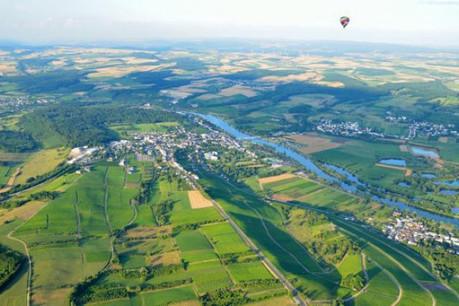 Façonné par les vignobles, le paysage de la Moselle «a du goût» comme le souligne le ministre de l'Agriculture. (Photo: Serge Luca)