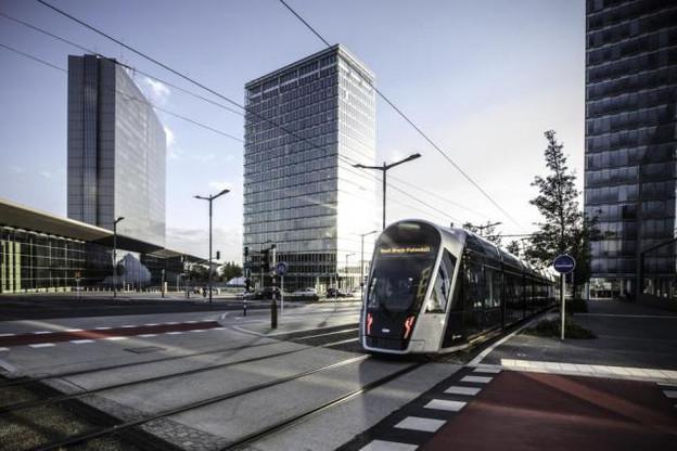 La mobilité se fait une place au Kirchberg avec en 2017 l'arrivée du tram.  (Photo: Fonds Kirchberg)