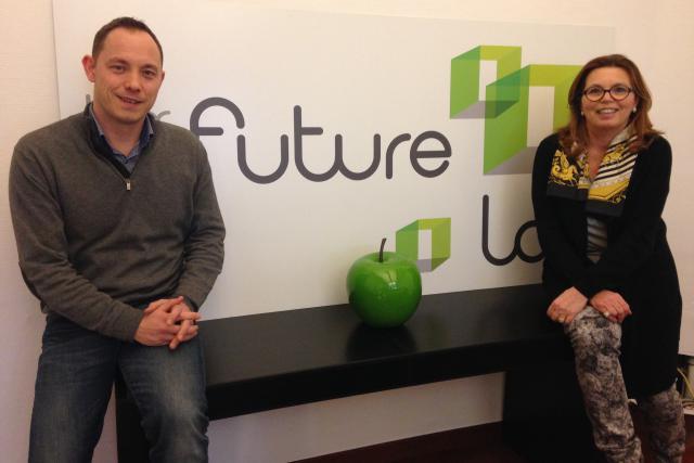 Karin Schintgen, la patronne du Lux Future Lab, et le manager Olivier Selis (Photo: DR)