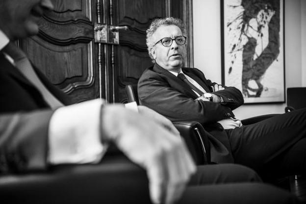 Ministre depuis 2013, ce n'est que depuis quelques mois que Pierre Gramegna fait ses premiers pas de politicien. Il savoure sa première campagne électorale, affirme-t-il. (Photo: Anthony Dehez)