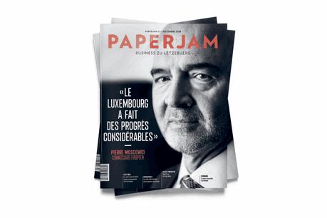 Pierre Moscovici, l'ancien ministre de l'Économie français et actuel commissaire européen aux Affaires économiques et financières, en couverture de ce Paperjam de décembre. (Photo: Anthony Dehez / Couverture: Maison Moderne)