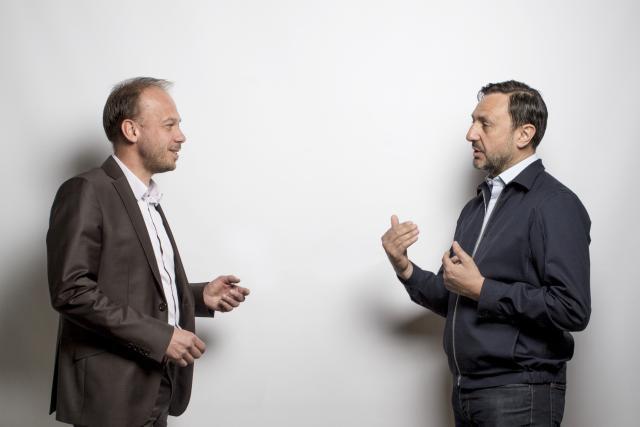 Nicolas Hurlin (à gauche) est founding partner de The Recruiter et Eric Busch (à droite) est CEO & founder de Nexten.io. (Photo: Patricia Pitsch / Maison Moderne)