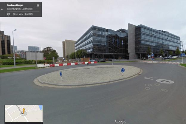 Google Street View propose un voyage à 360° du nord au sud, en passant par le Kirchberg. Ici, la Chambre de commerce. (Photo: Google)
