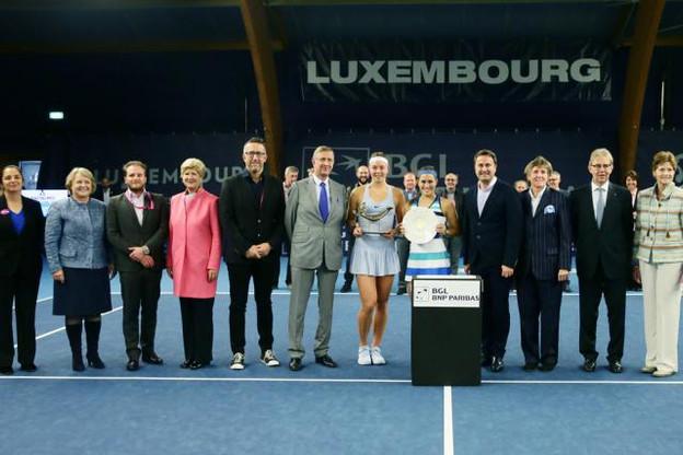 Le Luxembourg Open lors de la remise de prix pour l'édition2017 remportée par Carina Witthoeft. (Photo: IWTP International Women's Tennis Promotion)