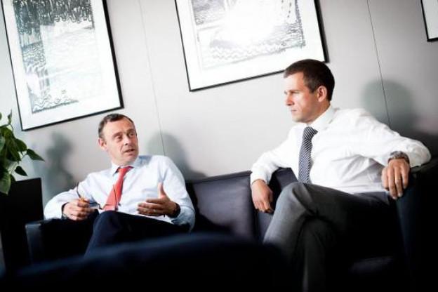 Patrick Keusters et Geert De Bruyne (Banque Degroof Luxembourg) (Photo : Jessica Theis)