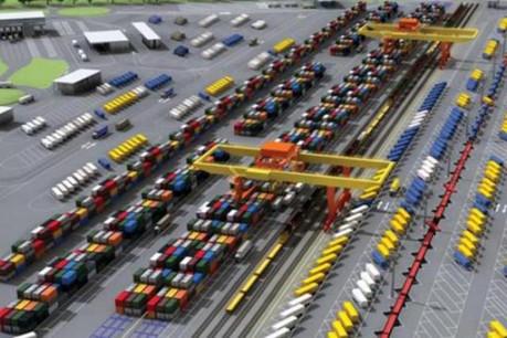 La nouvelle plateforme intermodale permettra le transbordement de 300.000 conteneurs ainsi que de 300.000 semi-remorques par an. (Illustration: CFL)