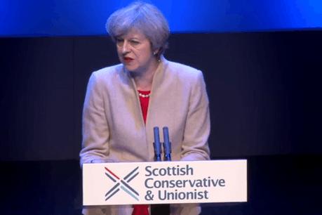 Theresa May devra aussi gérer les relents séparatistes qui resurgissent en Écosse. (Photo: capture d'écran / Twitter)