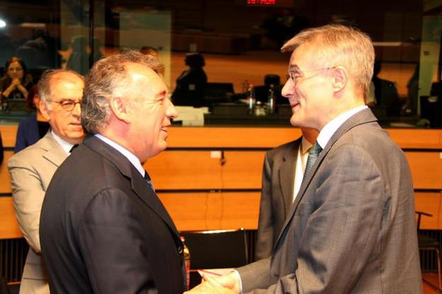 Les ministres de la Justice réunis en conseil à Luxembourg – ici, Félix Braz avec son homologue français François Bayrou – ont approuvé l'orientation générale du futur Parquet européen, que 20 États membres s'engagent à lancer à travers une coopération renforcée. (Photo: MJUST)