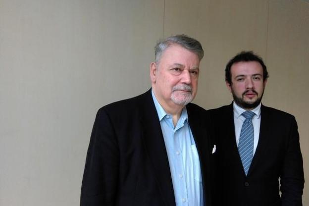 Freddy Bracke (à gauche) préside le cluster maritime luxembourgeois, dont le manager est Paul Marceul. (Photo: paperJam.lu)