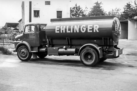 Camion-citerne Mercedes d'une capacité de 8.000 litres (1962). (Photo: Groupe Schuler)