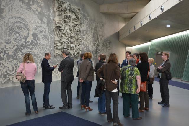 La délégation belgo-néerlando-luxembourgeoise s'est fait son idée, de l'intérieur, sur le Freeport. (Photo: ChambreLux)