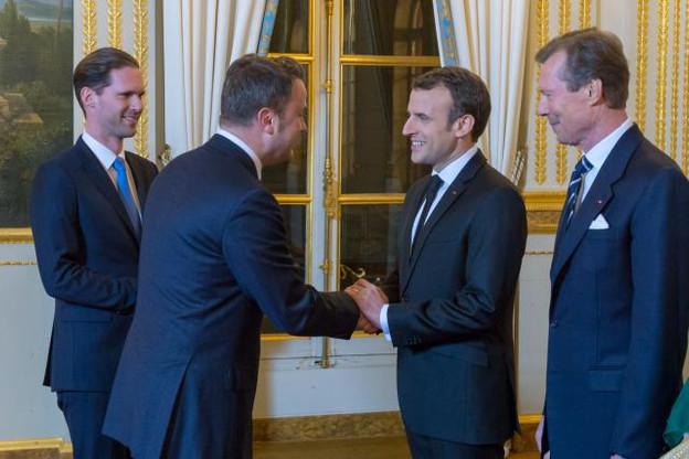 Le courant passe visiblement toujours bien entre Xavier Bettel et Emmanuel Macron. (Photo: SIP)