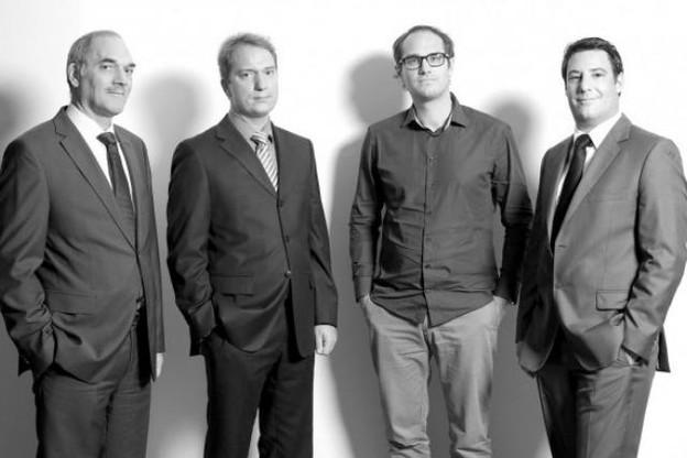 Guy Rosseljong (BCEE), Yves Gaspard (Thomas & Piron), Marc Wagner (Livin) et David Weis (Youbuild) (Photo: Luc Deflorenne)