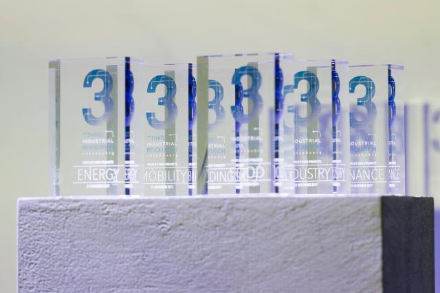 Ouni, PwC, Microlux, Ama Mundu Technologies, Creos et Coeba, Dave Lefèvre et Associés ont chacun été élus dans leurs catégories comme projets les plus innovants et les plus inspirants. (Photo: IMS Luxembourg)