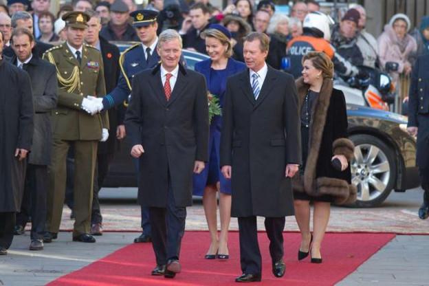 Le Roi Philippe avait effectué un de ses premiers déplacements officiels au Luxembourg, en décembre 2013. La visite d'État prendra une autre ampleur protocolaire. (Photo: SIP - Charles Caratini / Archives)