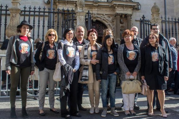 Le comité de soutien de Chani était au Te Deum organisé dans le cadre de la Fête nationale ce mardi. (Photo: Comité de soutien pour Chani)