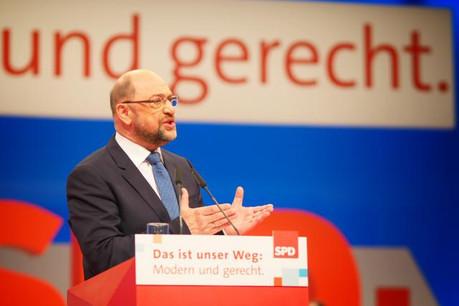 En s'engageant personnellement en faveur de cet accord, Martin Schulz joue aussi sa crédibilité de leader capable de faire entendre la voix socialiste lors de l'écriture de l'accord de coalition. (Photo: Licence C.C.)