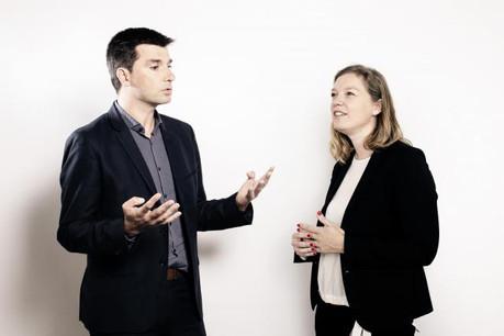 Julie Honoré (Executive director chez EY) et Jérôme Simon (Country manager Luxembourg chez Matexi). (Photo: Jan Hanrion (Maison Moderne) et Matic Zorman)