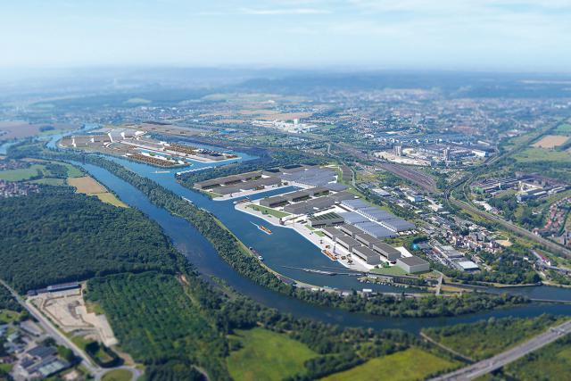 L'Europort Lorraine, plate-forme logistique et industrielle multimodale, possède plus de 200 hectares de foncier disponibles. (Photo : Europort)