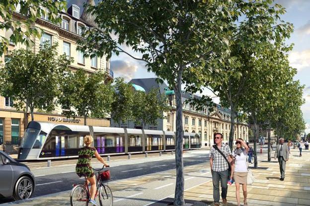 L'Avenue de la Liberté va radicalement changer d'allure avec l'arrivée du tram en 2020. (Photo : Luxtram)