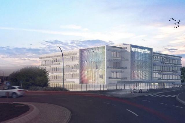Le futur siège du Luxemburger Wort, à Howald, prendra place sur le site de l'ancienne Reliure Saint-Paul, «sur un terrain qui n'appartient pas à 100% à l'archidiocèse», selon Paul Peckels, directeur du groupe Saint-Paul. (Photo: M3 Architectes)