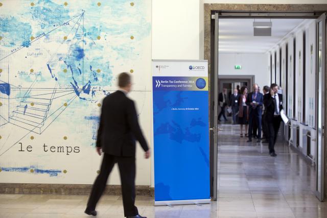Le 29 octobre 2014, à Berlin, lors du Forum mondial sur la transparence, 51 pays, dont le Luxembourg, se sont engagés dans l'échange automatique de données financières. (Photo: Axel Schmidt-OCDE/archives)