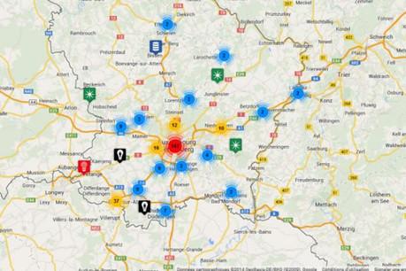 Le carte interractive des start-up et de leurs partenaires comporte quelque 300 références. (Visuel: Silicon Luxembourg)