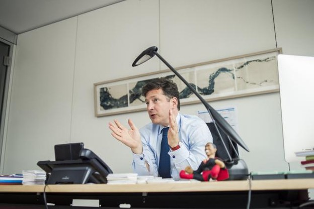 «Depuis deux, trois ans, nous sommes plus discrets au Luxembourg, car c'est désormais à la Lhoft de fédérer l'écosystème local», explique Nicolas Mackel, le CEO de Luxembourg for Finance (LFF). (Photo: Mike Zenari / archives)