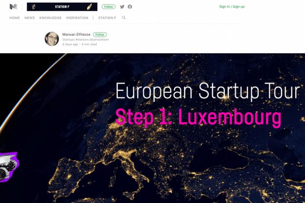 Le Luxembourg, première étape de ce tour d'Europe atypique. (Photo: capture d'écran)