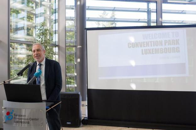 Patrick Hoffnung, directeur de l'ECCL et président du Cluster Mice, a présenté mercredi le nouveau concept du Convention park Luxembourg. (Photo: Matic Zorman)