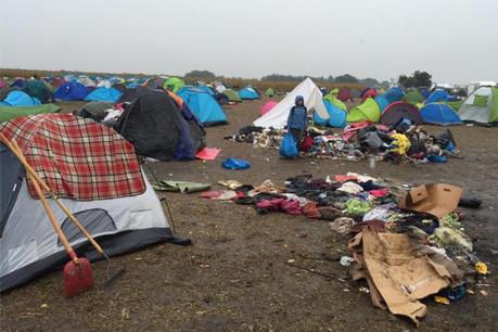 Au camp de Röszke en Hongrie, les conditions sont plus que sommaires pour accueillir le flot incessant de réfugiés. (Photo: DR)