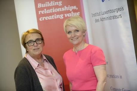 Marie-Jeanne Chèvremont-Lorenzini, présidente de l'Ila et Nathalie Dogniez, présidente du groupe de travail dédié aux fonds au sein de l'Ila. (Photo: Christophe Olinger)