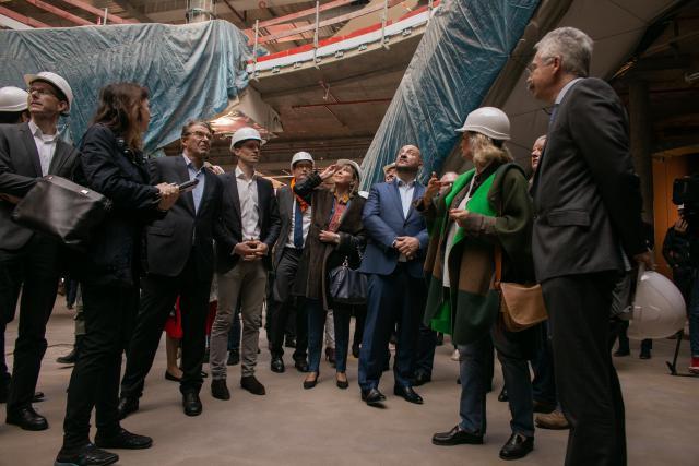 Plusieurs grands chantiers vont être finis au cours de l'année2019, dont le centre commercial de la Cloche d'Or. (Photo : Matic Zorman)