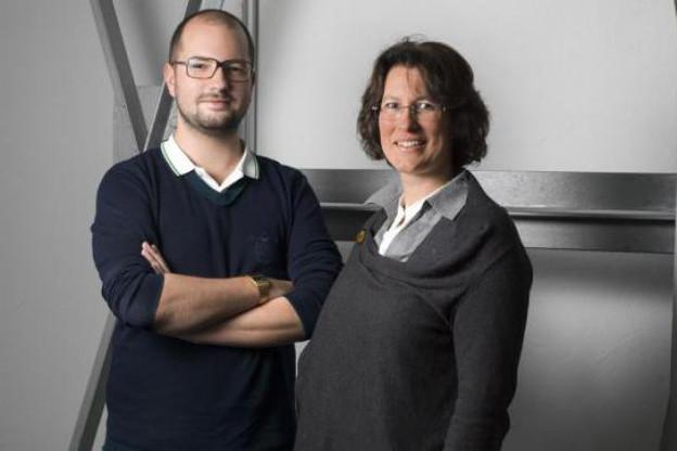 Fabien Rodrigues (Indiact), aux côtés de Caroline Milbert (Agence du Bénévolat) (Photo : Julien Becker)