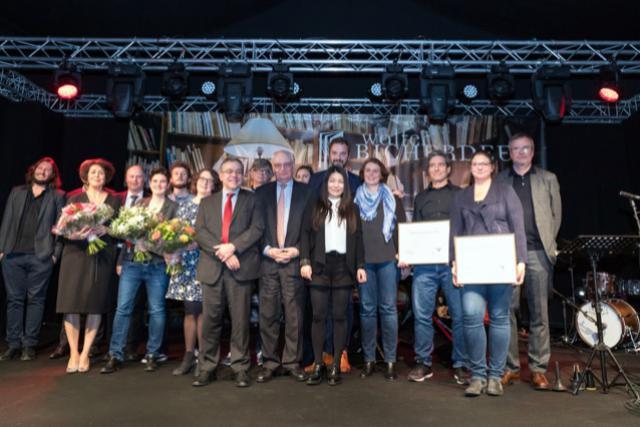 Les lauréats du 13e Lëtzebuerger Buchpräis. (Photo: Administration communale de Walferdange)
