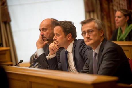 Étienne Schneider, Xavier Bettel, Félix Braz et les délégations de leurs partis respectifs ont entamé les négociations en vue de définir une nouvelle coalition. (Photo: Christophe Olinger /archives)