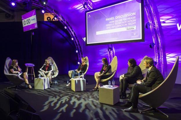 L'entrepreneuriat représente, pour les participantes à la table ronde, une chance pour permettre aux femmes d'accentuer leur influence dans le domaine des nouvelles technologies. (Photo: Anthony Dehez)