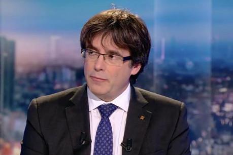 Carles Puigdemont est disponible pour les élections du 21 décembre, pour lesquelles il pourrait faire campagne depuis l'étranger. (Photo: RTBf / capture d'écran JT)