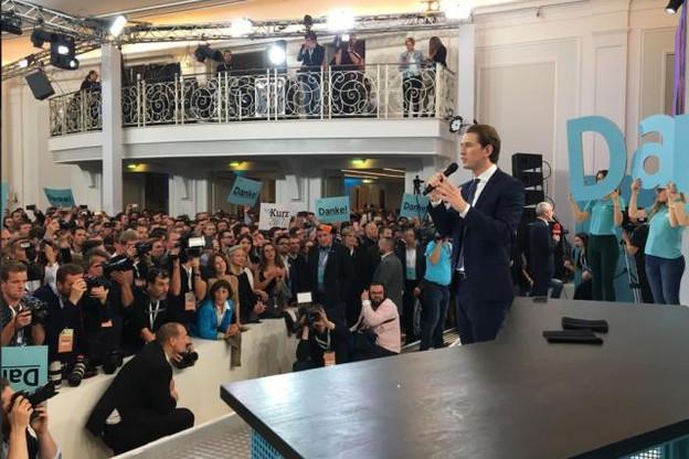 Au soir de la victoire, Sebastian Kurz a appelé au changement de culture politique en Autriche. (Photo: Twitter)