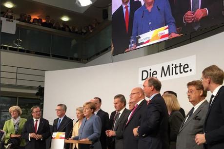 Angela Merkel se prépare probablement à une coalition avec les écologistes et les libéraux. (Photo: Twitter/ CDU)