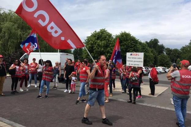 L'OGBL a obtenu un accord jeudi à Bertrange, mais la grève continue sur les sites de Bettembourg vendredi et Pétange lundi. (Photo: OGBL)