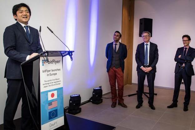 «Nous connaissions le Luxembourg, mais c'est à Londres que nous voulions ouvrir une antenne, car la Financial Conduct Authority (FCA) était très ouverte aux start-up étrangères qui souhaitaient s'installer en Grande-Bretagne», a reconnu le CEO de BitFlyer, Yuzo Kano, vendredi soir à la Lhoft. (Photo: Nader Ghavami)
