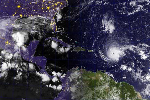 95% de l'île serait détruite, selon le président du conseil territorial local, Daniel Gibbs. (Photo: U.S. Navy)