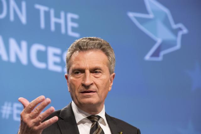 Le commissaire au budget, Günther Oettinger, envisage des pistes pour compenser le retrait britannique. (Photo: Licence C.C.)