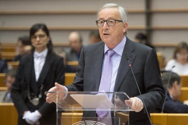 La Commission européenne, avec son président Jean-Claude Juncker, se veut ambitieuse sur ses moyens financiers dans un futur cadre à 27. (Photo: Commission européenne/Services audiovisuels)