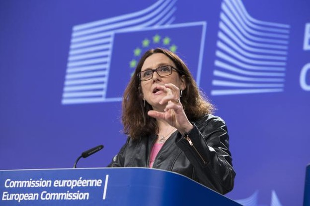 Cecilia Malmström, lors de la conférence de presse de ce mercredi (Photo: Commission Européenne)