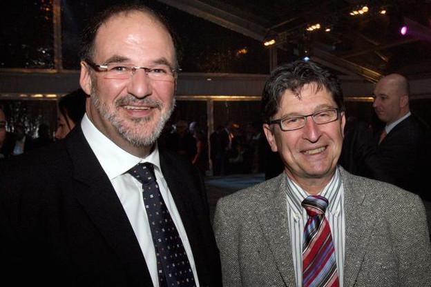 Roger Lampach (à gauche) est arrivé chez Luxconnect en 2007, quelques mois après que Edouard Wangen (à droite) y a été nommé CEO.  (Photo: Luc Deflorenne / archives)