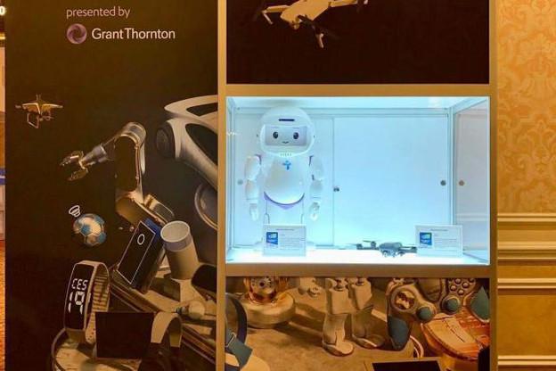 QTrobot de LuxAI se fait remarquer au CES 2019. (Photo: Compte Twitter / LuxAI)
